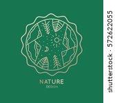 vector logo of nature on green... | Shutterstock .eps vector #572622055