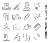 medicine and health symbols for ... | Shutterstock .eps vector #572629432