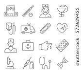 medicine and health symbols for ... | Shutterstock .eps vector #572629432