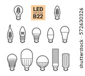 led light bulbs with b22 base ... | Shutterstock .eps vector #572630326