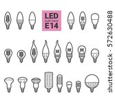 led light bulbs with e14 base ... | Shutterstock .eps vector #572630488