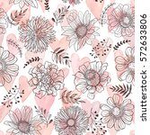 Seamless Pattern From Flowers...