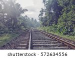 railway in the tropics in the... | Shutterstock . vector #572634556