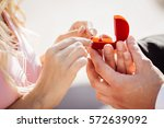 young man giving diamond... | Shutterstock . vector #572639092