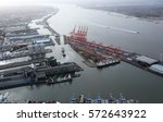 aerial view of the port of... | Shutterstock . vector #572643922