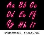 neon alphabet font part 1 | Shutterstock .eps vector #572650708