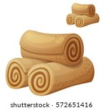 rolled cookies illustration....