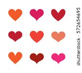 heart set | Shutterstock .eps vector #572654695