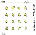 bell flat icon set. collection...