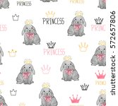 seamless pattern with cute... | Shutterstock .eps vector #572657806
