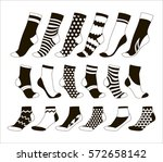 set icon of socks | Shutterstock .eps vector #572658142