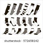 set icon of socks   Shutterstock .eps vector #572658142