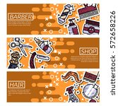 set of horizontal banners about ... | Shutterstock .eps vector #572658226