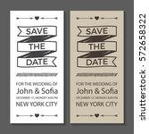 save the date wedding... | Shutterstock .eps vector #572658322