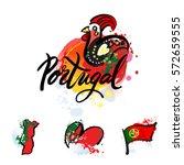 portugal the travel destination ... | Shutterstock .eps vector #572659555