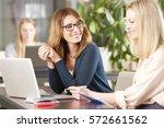 shot of two professional women... | Shutterstock . vector #572661562