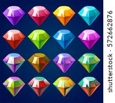 cartoon vector gems and...   Shutterstock .eps vector #572662876