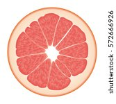 isolated circle of juicy pink... | Shutterstock .eps vector #572666926