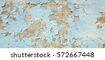 Old Weathered Painted Blue...