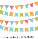 different colorful bunting for... | Shutterstock .eps vector #572668285
