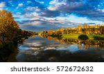 panorama of florence on... | Shutterstock . vector #572672632