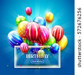 luxury party balloons and...   Shutterstock .eps vector #572676256
