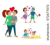 couple in love vector set. | Shutterstock .eps vector #572677072