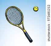 squash stretched circle net... | Shutterstock .eps vector #572681212