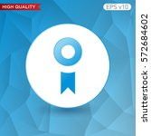 award icon. button with award...