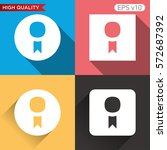 award icon. button with award... | Shutterstock .eps vector #572687392