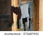 Male Clothes Hanging To Dry...