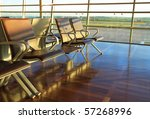 empty chairs on airport | Shutterstock . vector #57268996