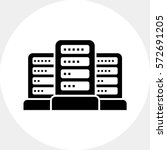 group of servers | Shutterstock .eps vector #572691205