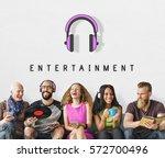 entertainment audio multimedia...   Shutterstock . vector #572700496