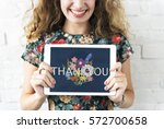 thank you appreciation... | Shutterstock . vector #572700658