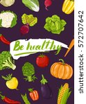 be healthy poster vector... | Shutterstock .eps vector #572707642