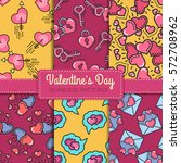 valentine's day seamless... | Shutterstock .eps vector #572708962