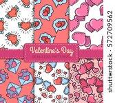 valentine's day seamless... | Shutterstock .eps vector #572709562