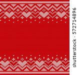 knitted seamless pattern with... | Shutterstock .eps vector #572714896