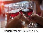 happy friends having fun... | Shutterstock . vector #572715472