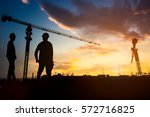 silhouette engineer...   Shutterstock . vector #572716825