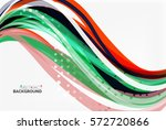colorful wave stripes and lines.... | Shutterstock .eps vector #572720866