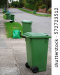 Green Bins In The Street On...