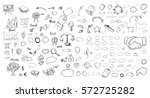 pencil sketches. hand drawn... | Shutterstock .eps vector #572725282