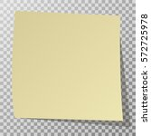yellow sticker with shadow... | Shutterstock .eps vector #572725978