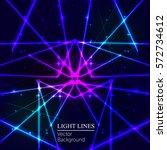 Blue Random Laser Beams On Dar...