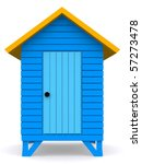 3d Beach Hut Isolated Over A...