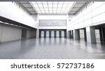 Empty Factory Interior. 3d...