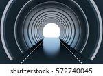 futuristic dark circular tunnel ... | Shutterstock . vector #572740045