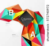 colorful triangle mosaic 3d... | Shutterstock .eps vector #572740972